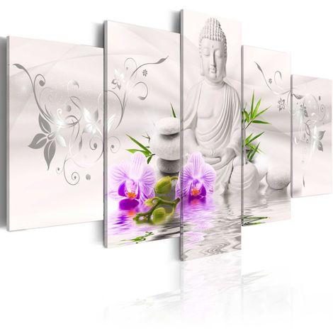 Cuadro Buda blanco cm 200x100 Artgeist