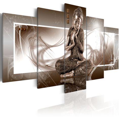 Cuadro Buda en reflexión cm 200x100 Artgeist