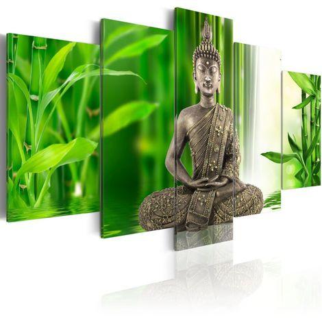 Cuadro Buda meditando cm 200x100 Artgeist