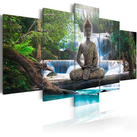 Cuadro - Buda y cascada