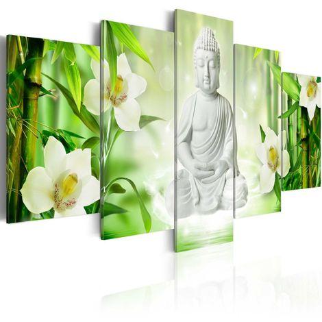 Cuadro Buda y jazmín cm 200x100 Artgeist