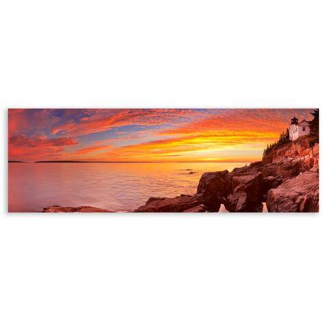 Cuadro cabecero de paisaje fotoimpreso sobre lienzo de 150x50 cm