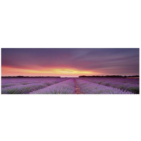 Cuadro cabecero paisaje fotoimpreso de lienzo de 150x50 cm