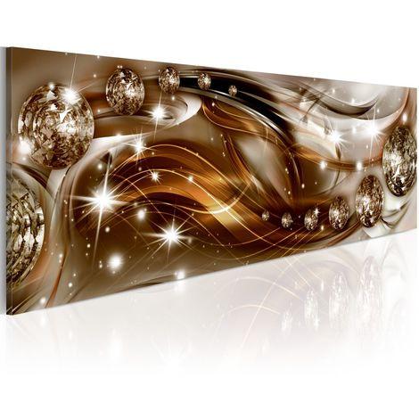 Cuadro Cinta de chispa y bronce cm 150x50 Artgeist