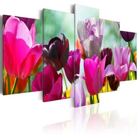 Cuadro - Color rosa y alegría - 100x50