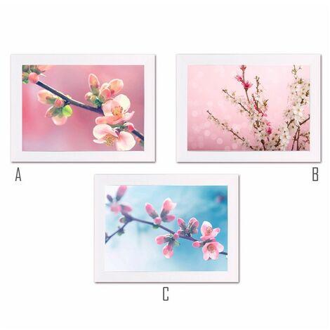 Cuadro con Marco fotoimpresión Flores (40x1.50x30 cm) C