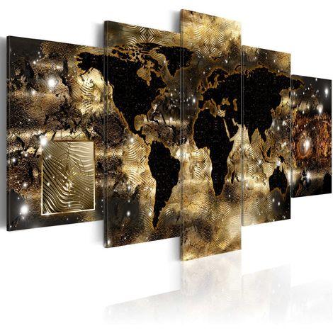Cuadro Continentes bronce cm 200x100 Artgeist