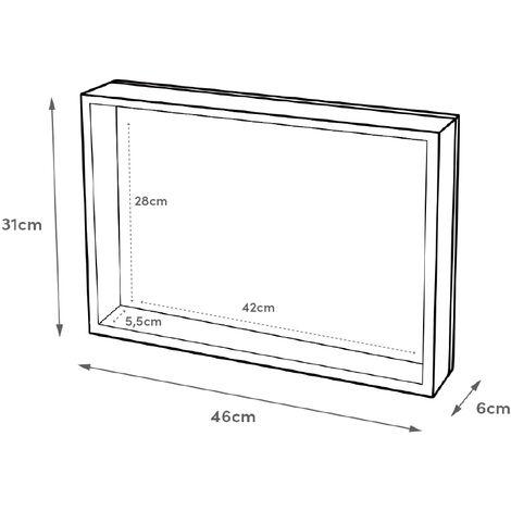 """main image of """"Cuadro cubrecontador blanco pintado con flores sobre lienzopara cajas eléctricas de 46x31 cm"""""""