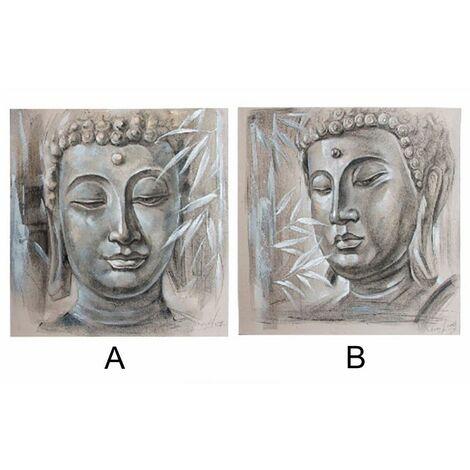 Cuadro de lino - Modelo Buda (100x100x3.8 cm) A