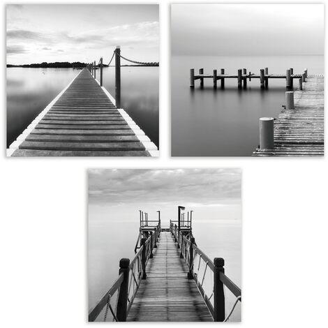 """main image of """"Cuadro de marinas en lienzo gris de 50x50 cm. Compra mínima3 unid"""""""