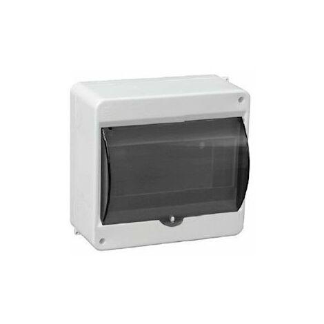 Cuadro de superficie 6 módulos IP40 puerta transparente
