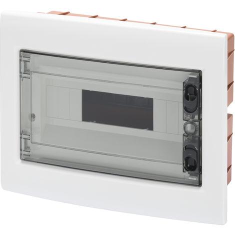 Caja de Superficie de automatismos el/éctricos para 6 m/ódulos de 18 mm de pl/ástico ABS BeMatik