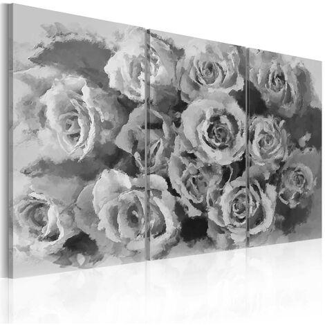 Cuadro - Doce rosas - tríptico - 60x40