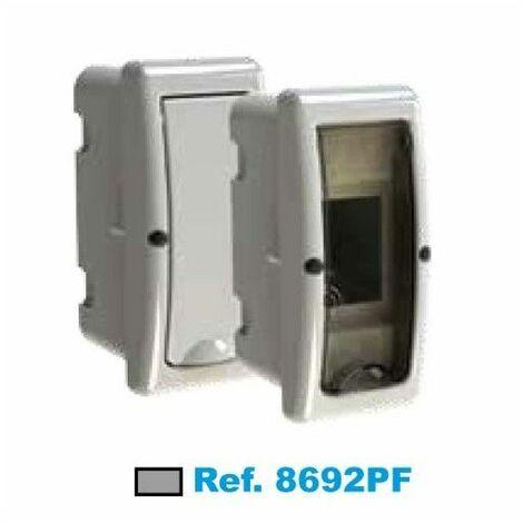 Cuadro eléctrico de empotrar 2 elementos fumé Solera Arelos 8692PF