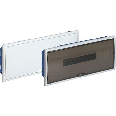 Cuadro eléctrico empotrar pladur 22 elementos marco blanco y puerta fumé SOLERA 8690PFHGW