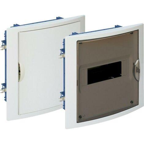 Cuadro eléctrico empotrar pladur 8 elementos marco blanco y puerta fumé SOLERA 5108PFHGW