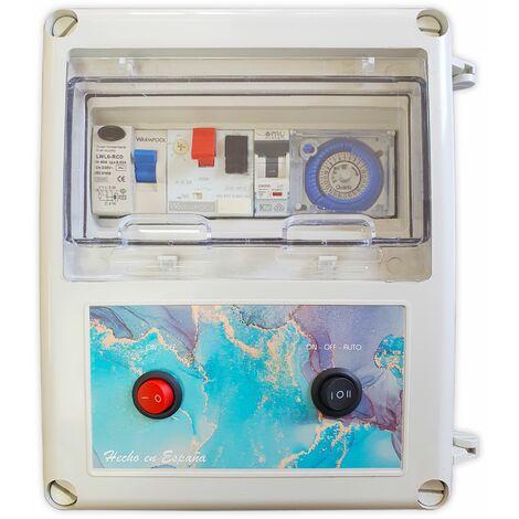 Cuadro eléctrico para piscina apto para Clorador, transformador 50W