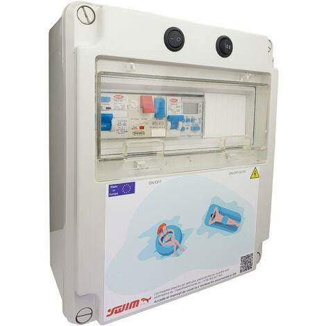 Cuadro eléctrico para piscina con fuente de alimentación