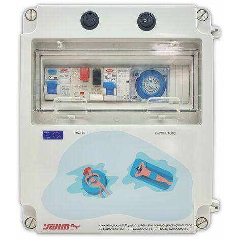 Cuadro eléctrico para piscina con Fuente de alimentación apto para Clorador