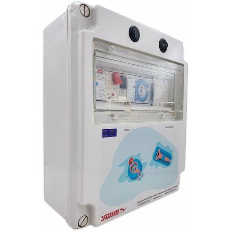 Cuadro eléctrico para piscina con Fuente de alimentación y Contactor para motor