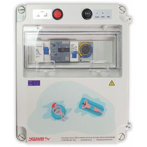 Cuadro eléctrico para piscina con transformador apto para Clorador