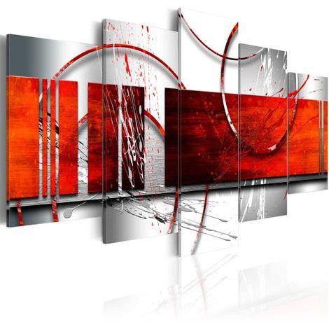 Cuadro Énfasis tema rojo cm 200x100 Artgeist