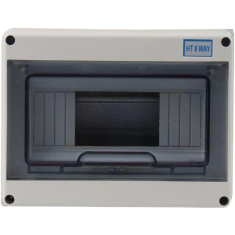 Cuadro estanco con carril DIN para 8 módulos IP65