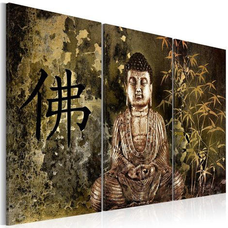 Cuadro Estatua de Buda cm 90x60 Artgeist
