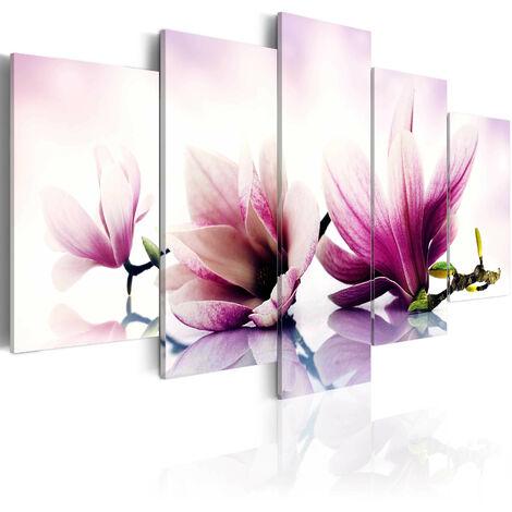 Cuadro - Flores rosadas: magnolias - 100x50