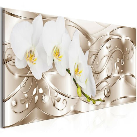 Cuadro - Flowering (1 Part) Narrow Beige - 150x50