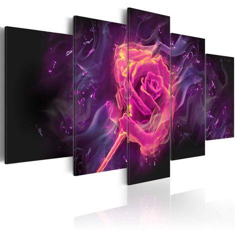 Cuadro Las llamas de rosa cm 200x100 Artgeist A1-N3920-DKX