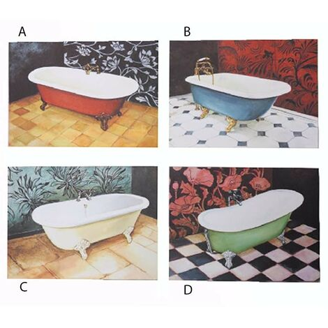 Cuadro lienzo bañera (40x30) 4 modelos D