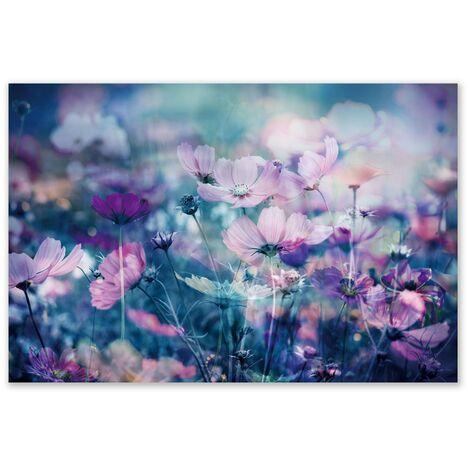 Cuadro lienzo de flores lila para salón de 120 x 80 cm France