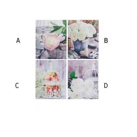 Cuadro lienzo modelo flores (40x50x1,5) C