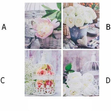 Cuadro lienzo modelo flores (40x50x1,5) D