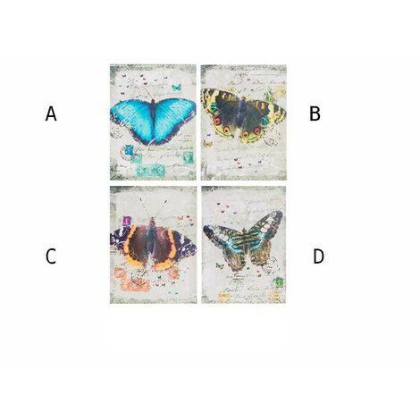 Cuadro lienzo modelo mariposa (30x40x1,5) C