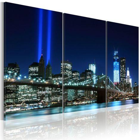 Cuadro Luces azules de Nueva York cm 90x60 Artgeist A1-N1709-DK