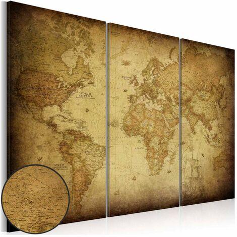 Cuadro - Mapa antiguo: tríptico