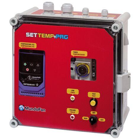 CUADRO METALICO TEMPERATURA SETTEMP + PROGRAMADOR TRI/TRI 5,5KW (14A) + SONDA