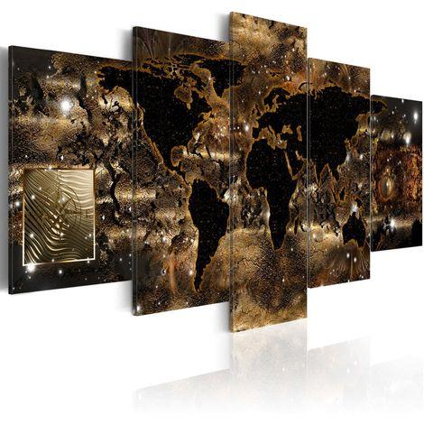 Cuadro Mundo del bronce cm 100x50 Artgeist