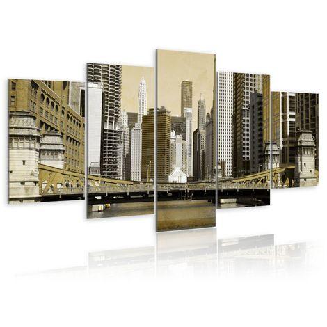 Cuadro Nueva York estilo vintage cm 200x100 Artgeist