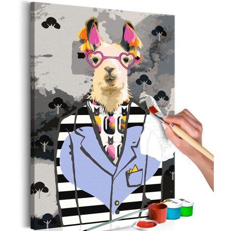 Cuadro para colorear Crazy Alpaca cm 40x60 Artgeist A1-MA_0191