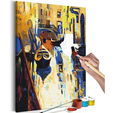 Cuadro para colorear - Venecia (las góndolas) - 40x60