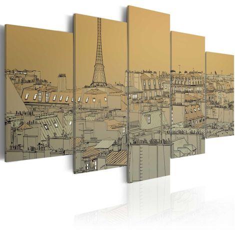 Cuadro París en estilo vintage cm 200x100 Artgeist