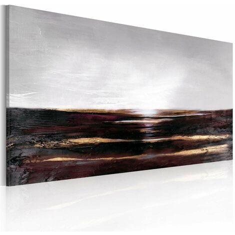 Cuadro pintado - Océano negro tamaño 120x60