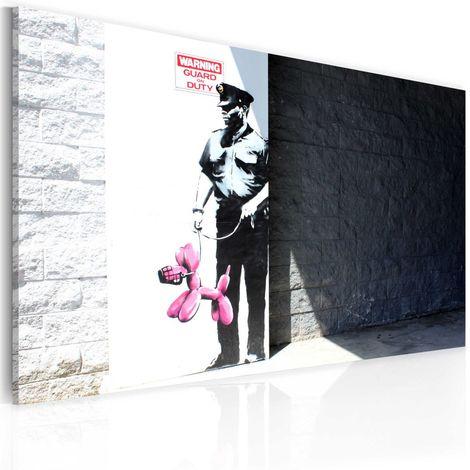 Cuadro Policía y perro rosa Banksy cm 60x40 Artgeist A1-N1810