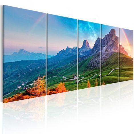Cuadro Rainbow in the Alps I cm 225x90 Artgeist A1-N7033-DKXXL