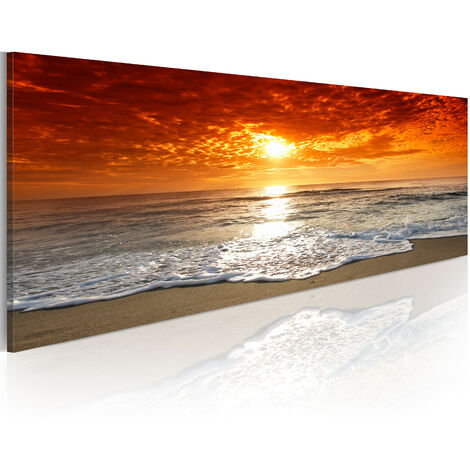 Cuadro - romántico puesta del sol - 135x45