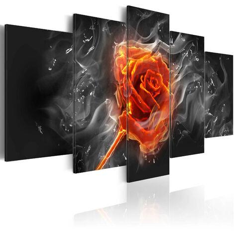 Cuadro - Rosa ardiente - 100x50