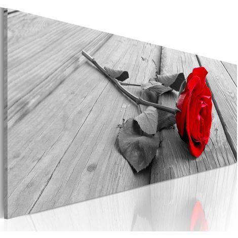Cuadro Rosa carmín cm 120x40 Artgeist A1-N3374